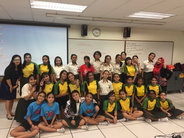 Stage makeup II workshop at Orchid Park secondary school ...