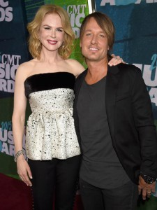 NASHVILLE, TN - JUNE 10:  Actress Nicole Kidman and singer Keith Urban attends the 2015 CMT Music awards at the Bridgestone Arena on June 10, 2015 in Nashville, Tennessee.  (Photo by Jeff Kravitz/FilmMagic)